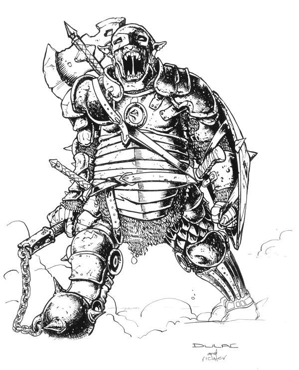 Goblin Warlord by Magnuson24