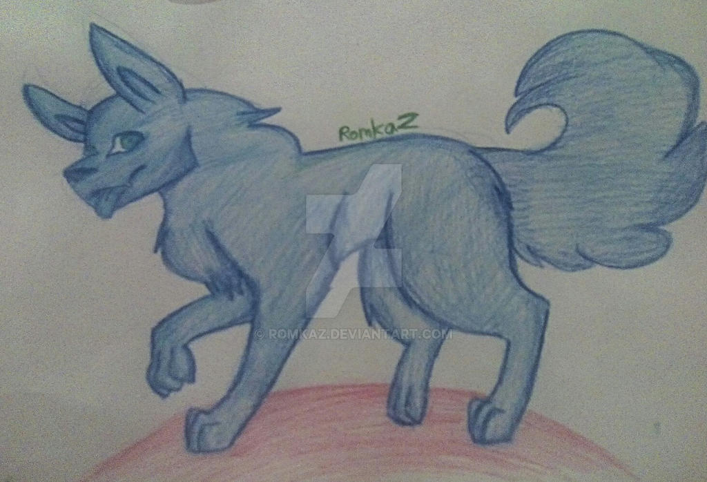 Blue Dog by RomkaZ