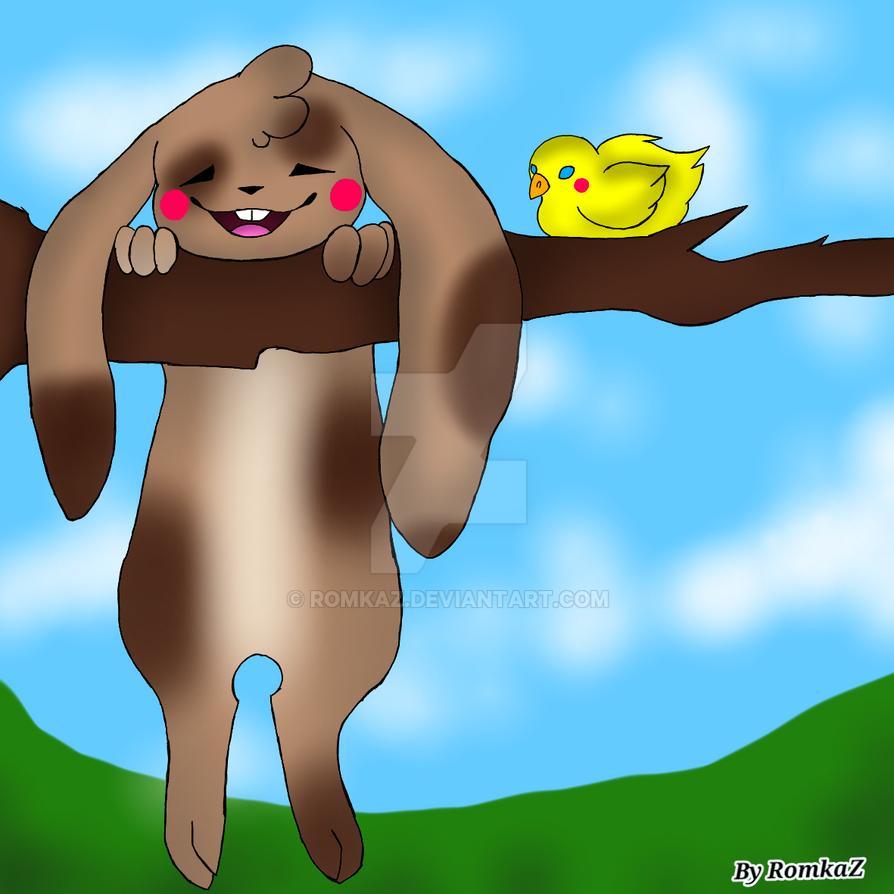 Just a bunny by RomkaZ