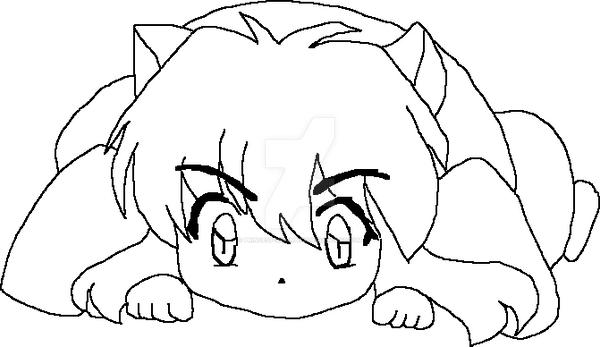 chibi inuyasha coloring pages - photo#9