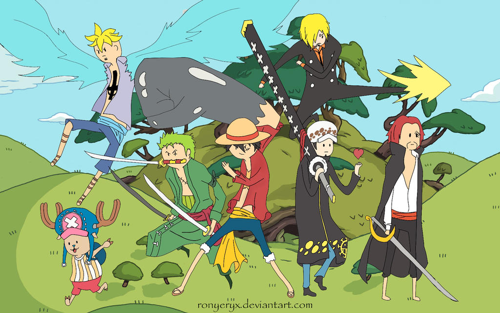 One Piece Adventure Time Style by RonyeryX