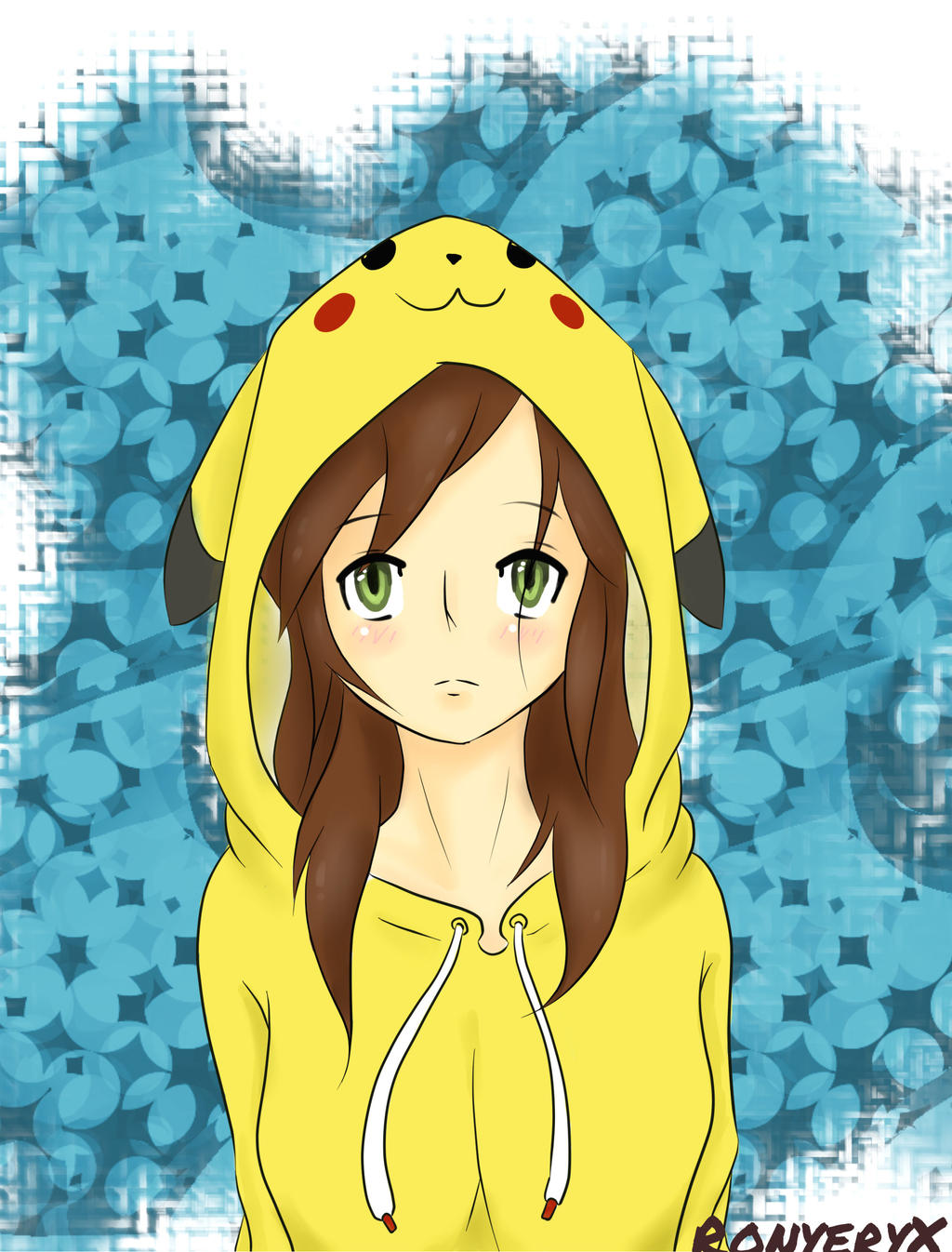 Anime Girl With Headphones And Hoodie 64786 Loadtve