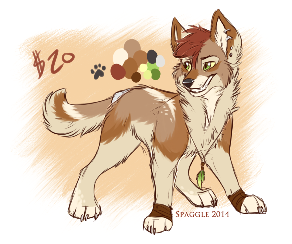 Coyote design -SOLD- by Spaggled