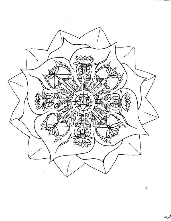 Lotus mandala by chompypuppy on deviantart for Lotus flower coloring pages free