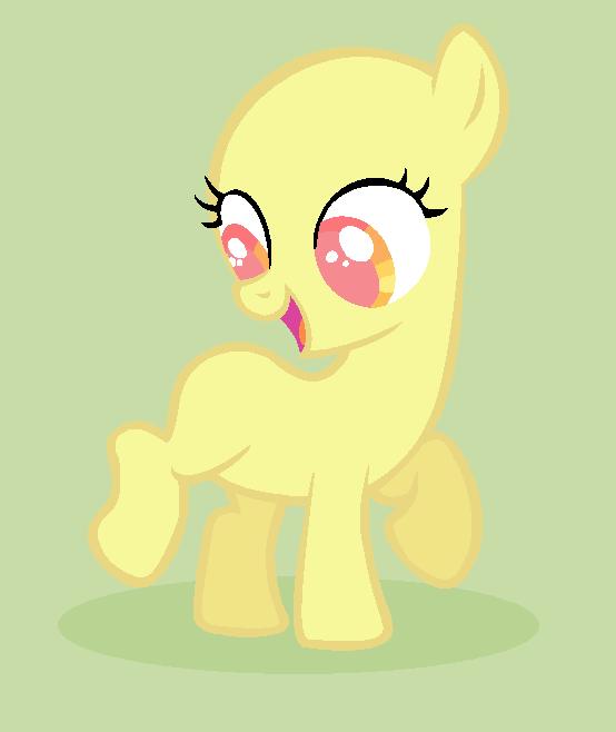 mlp base filly earth pony by goldraspberryheart on