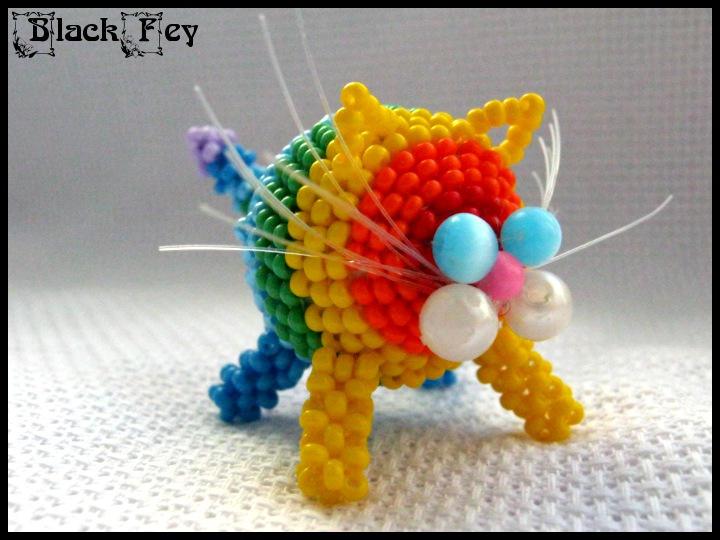 Rainbow Ball Cat