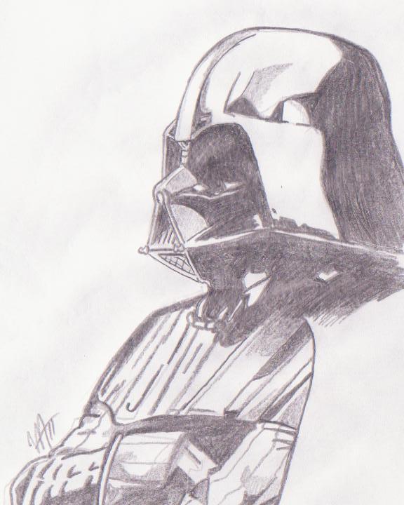 Darth Vader sketch by spyder8108 on DeviantArt