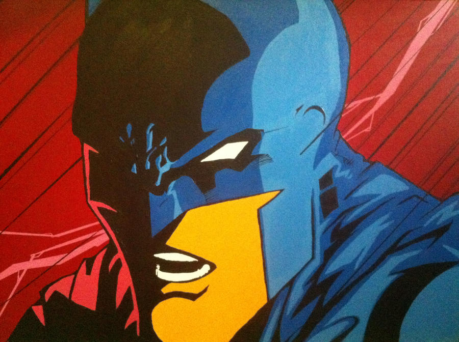 Batman Painting by spyder8108