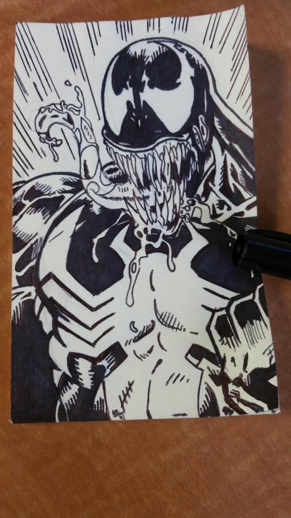 Post it note Venom  by spyder8108