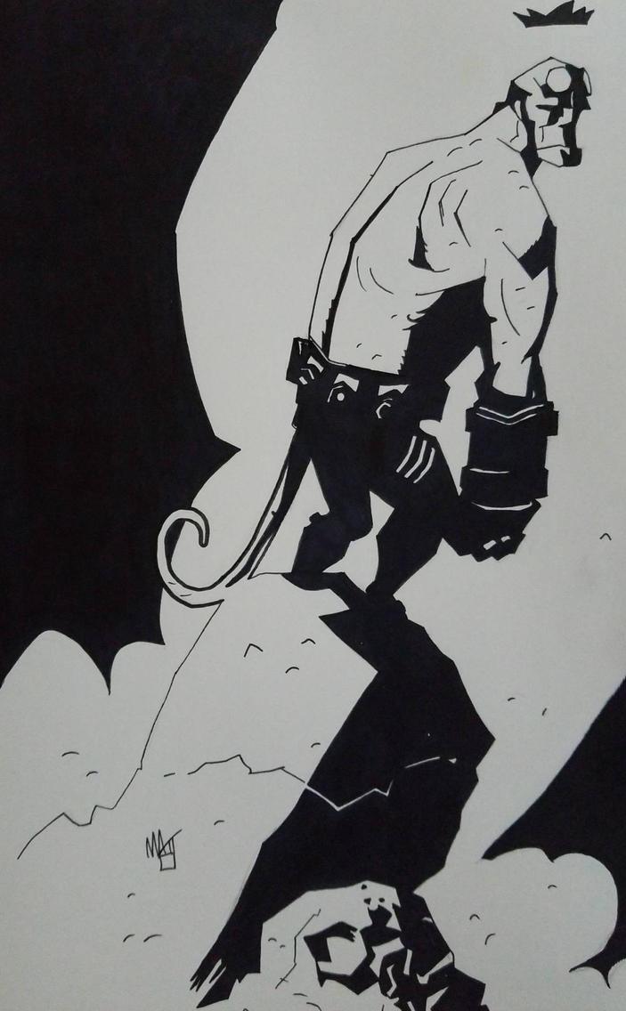 Hellboy by Mike Mignola  by spyder8108