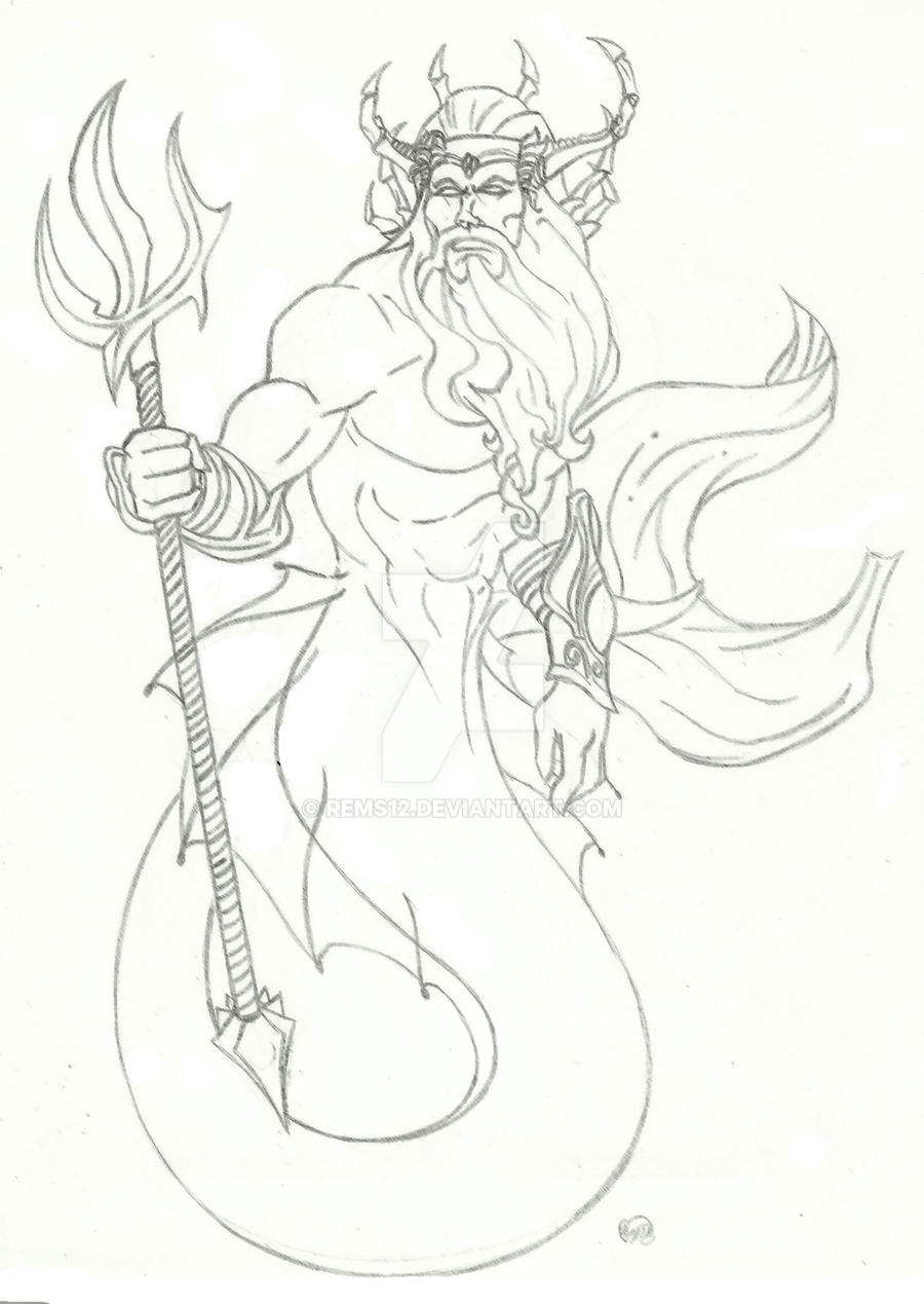 King Triton By Rems12 On DeviantArt