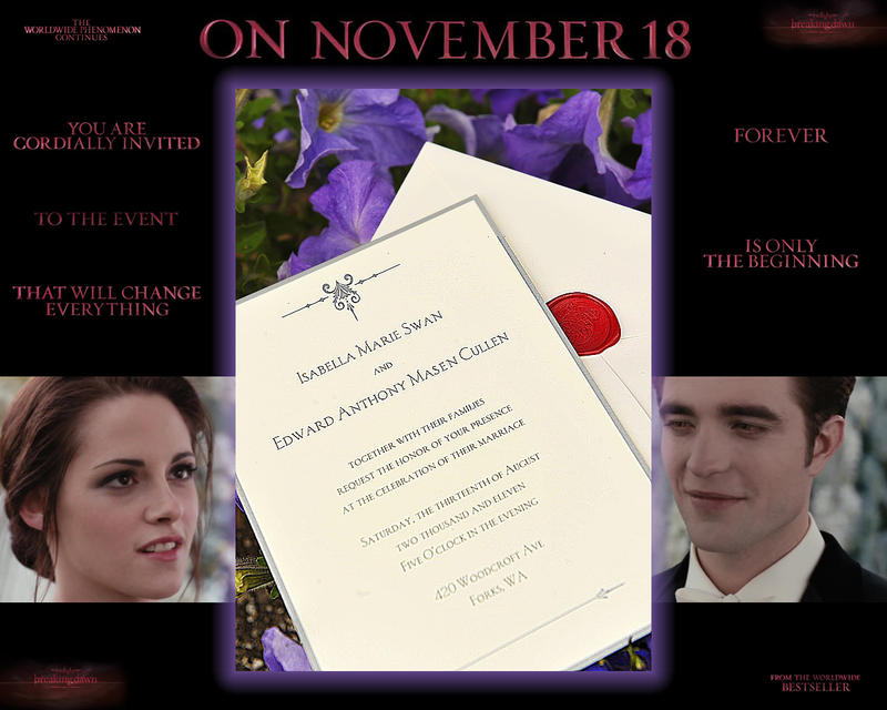 Twilight Saga Breaking Dawn Wedding Invitation by Maysa2010 on ...