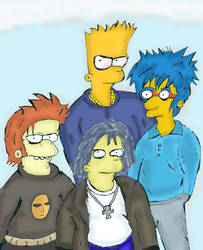 old school Simpsons Fan Art 1