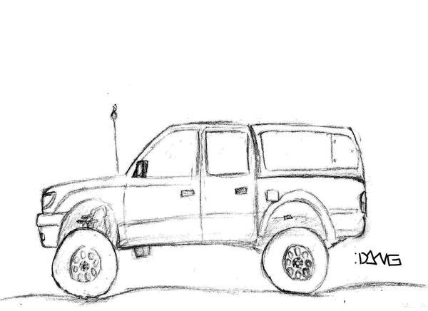2002 toyota tacoma by ninjadang on deviantart