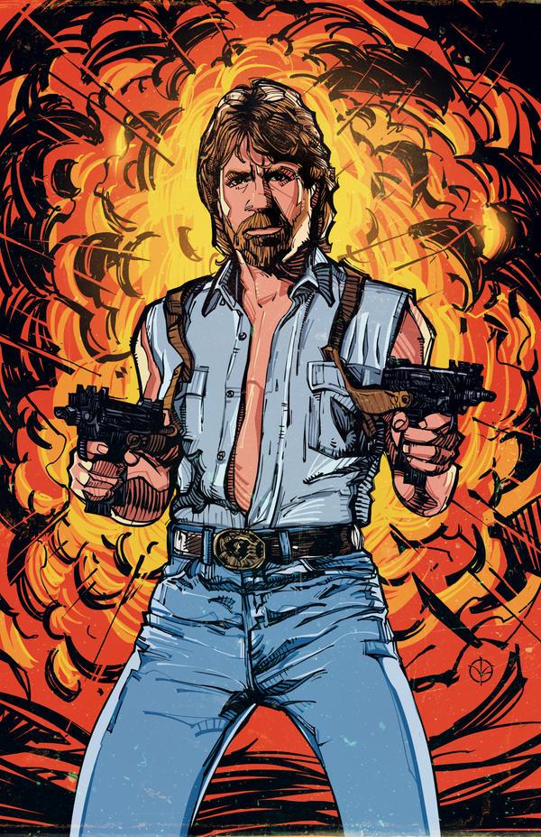 Chuck Norris by N-Abakumov