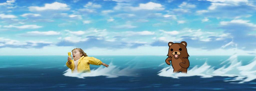 Pedobear water chase by TakeruDavis