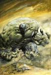 Incredible HULK: Oil on Canvas