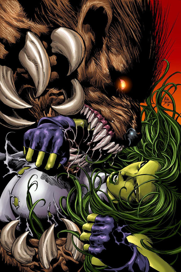 She-Hulk 35 by MikeDeodatoJr