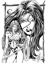 Wonder Woman Pin-up by MikeDeodatoJr