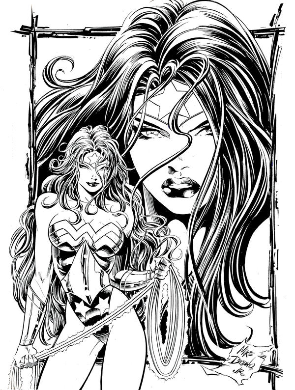 The Women Of Dc Comics Ink In Adam Withers S Dc Comics: Wonder Woman Pin-up By MikeDeodatoJr On DeviantArt