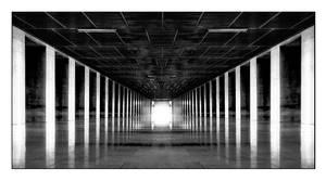 hallway bw by bangrud