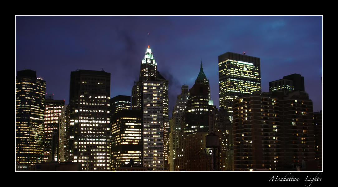 Manhattan Lights by DexterousDamsel