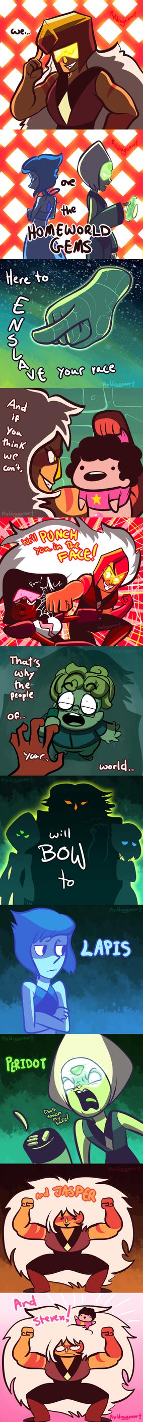 We... are the Homeworld Gems! by prpldragonart