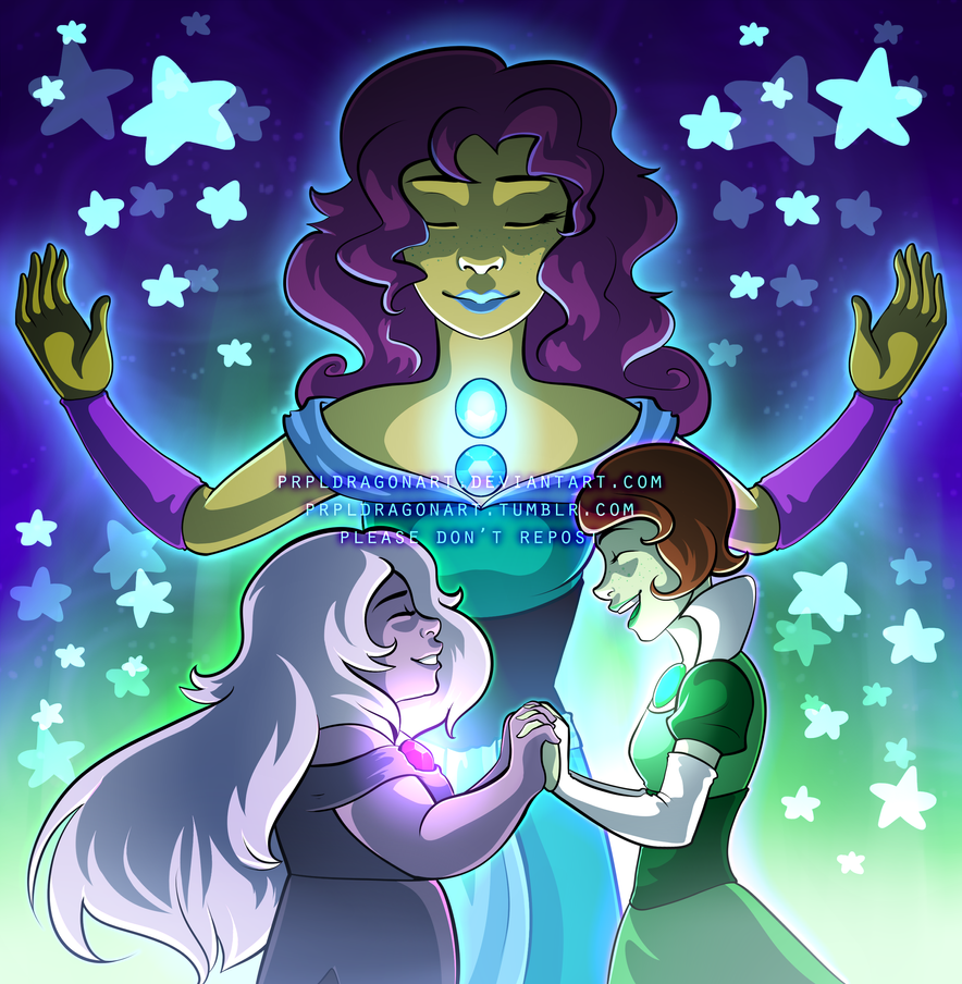 Commission Amethyst X Jade Fusion By Serpyra On DeviantArt