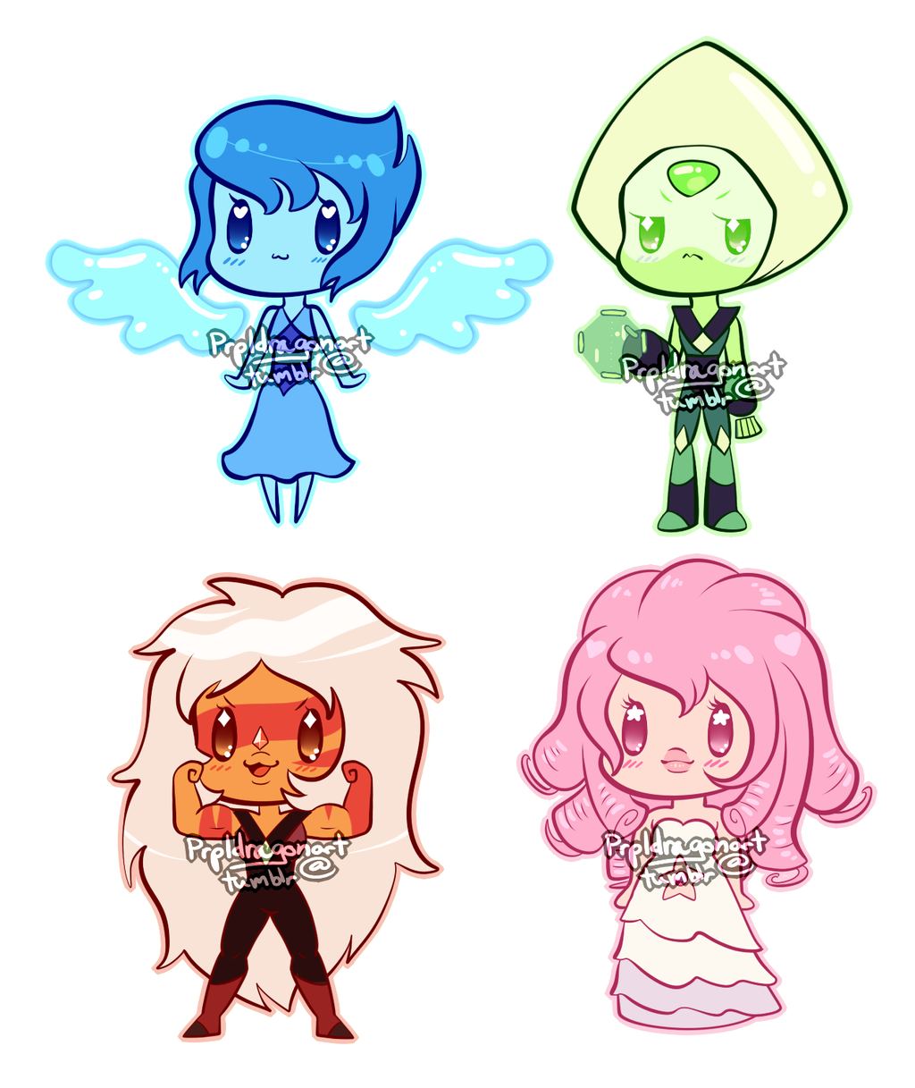Sale Steven Universe Gem Chibis By Serpyra