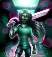 [for sale/speedpaint] Nightmare Swordswoman by serpyra