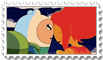 Flame Princess And Finn stamp by SHAORAN-UCHIHA