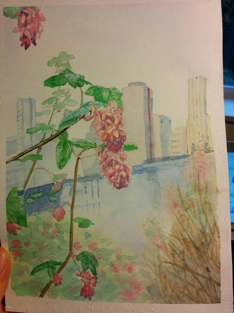 Flowers by the city by Takiari-xXXx-Meyrimo