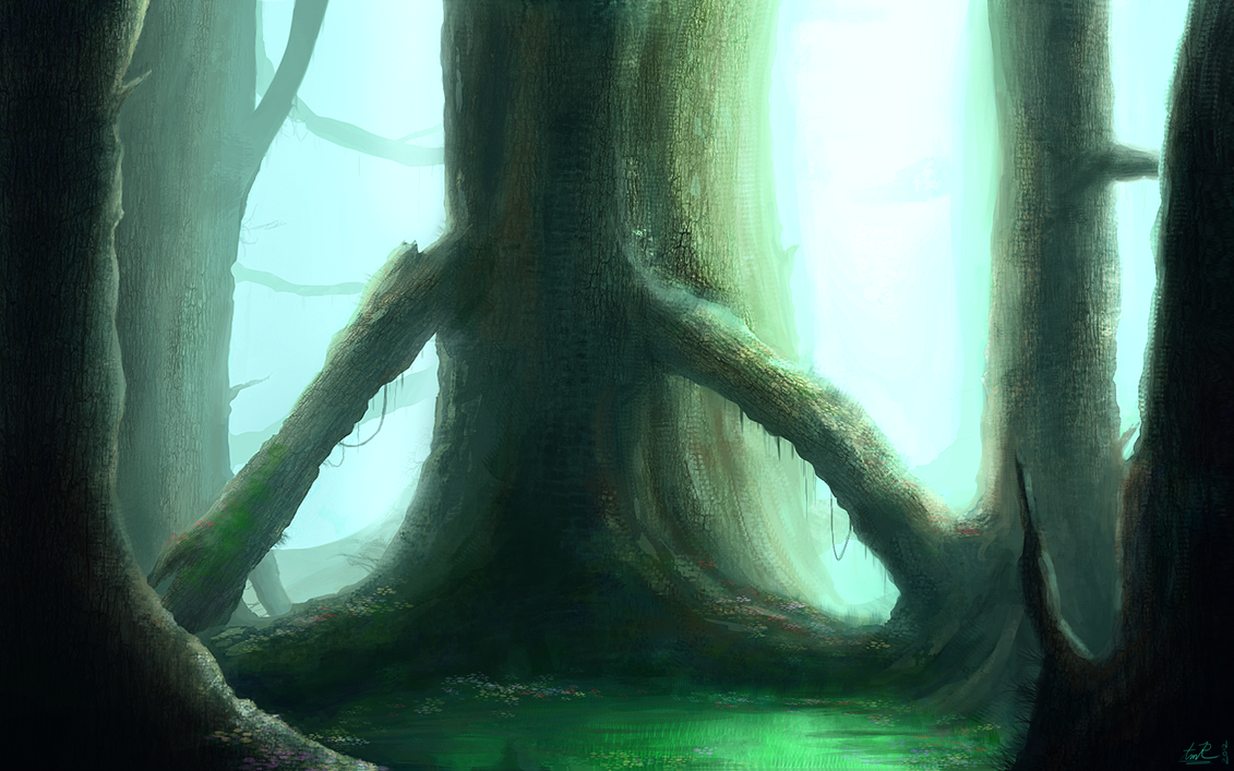 Environment Practice 02 .:Forest Trees:. by BloodyDragon117