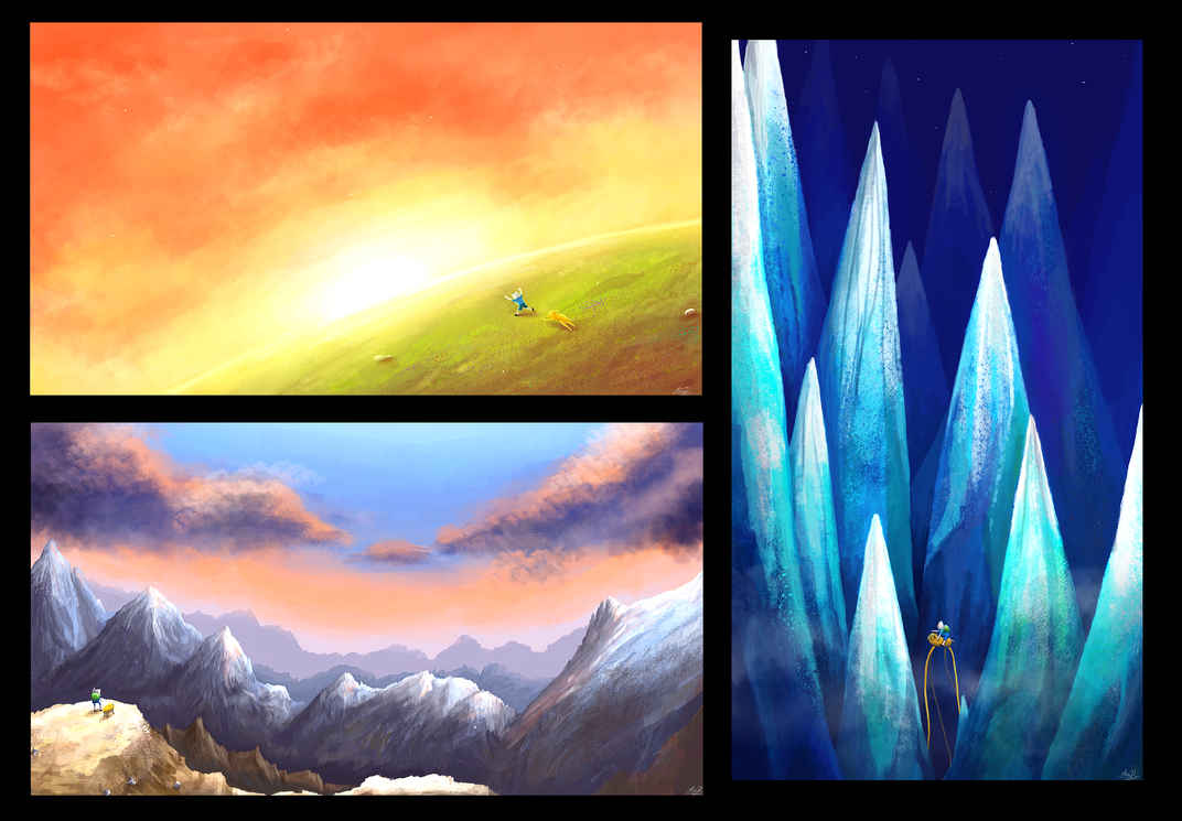 Adventure Time Landscapes by BloodyDragon117