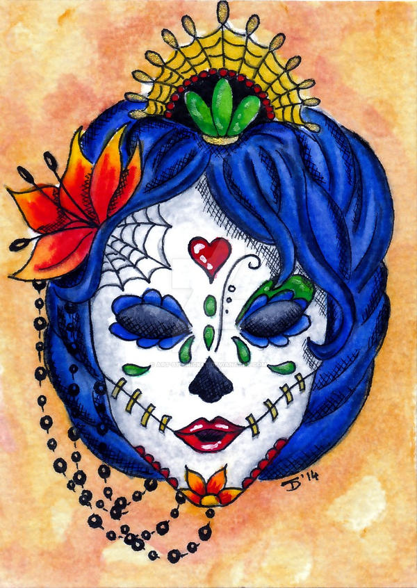 Sugar Skull by Art-by-Cricket
