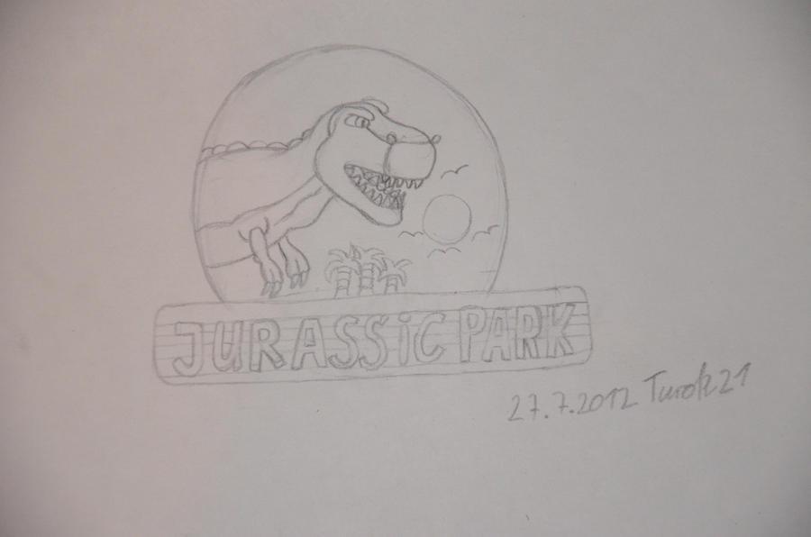 Jurassic Park Bild mit Keorpermasse kein Skelett by Turok21