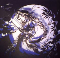 Paper cutting moon - Eirin by Enzan99283