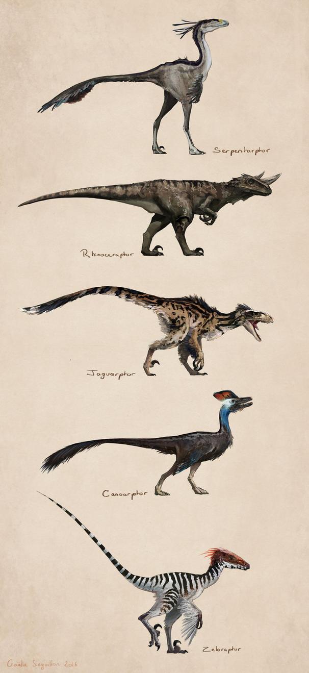 Savanna raptors by Fainernil