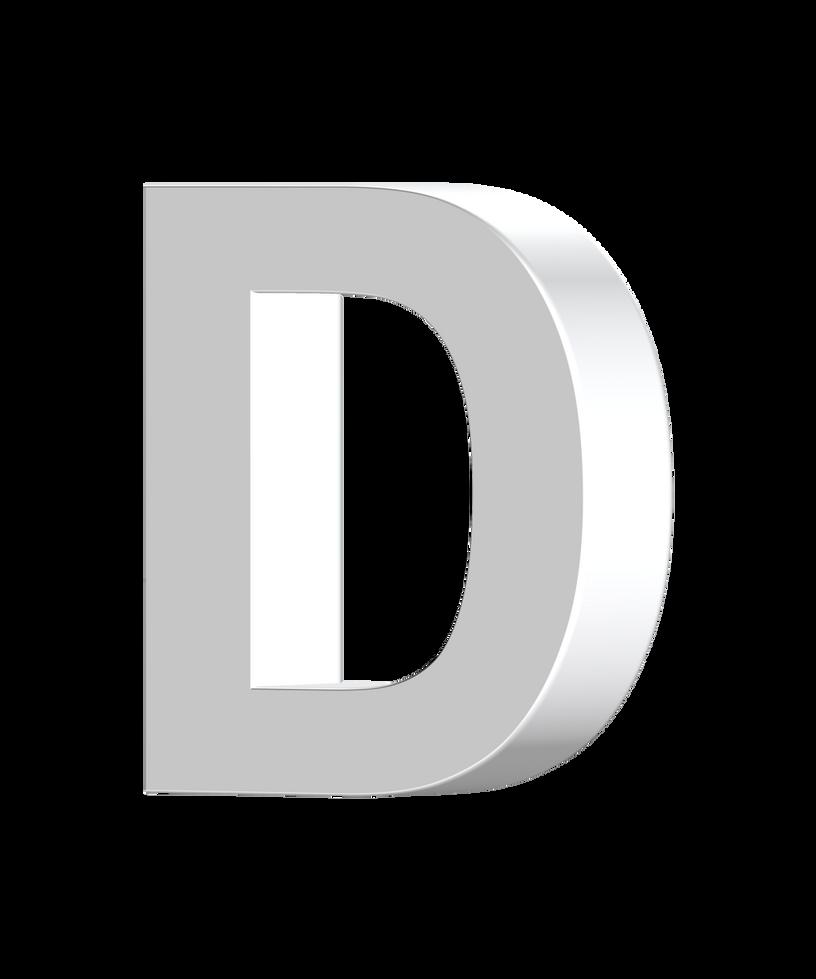 letter D 3D by billypic on DeviantArt