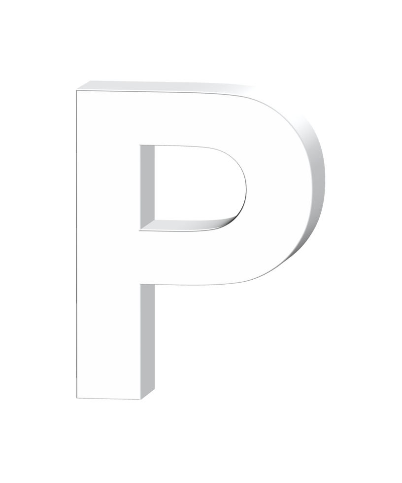 Letter P 3D By Billypic
