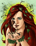 Poison Ivy and Groot (color) by Aethibert