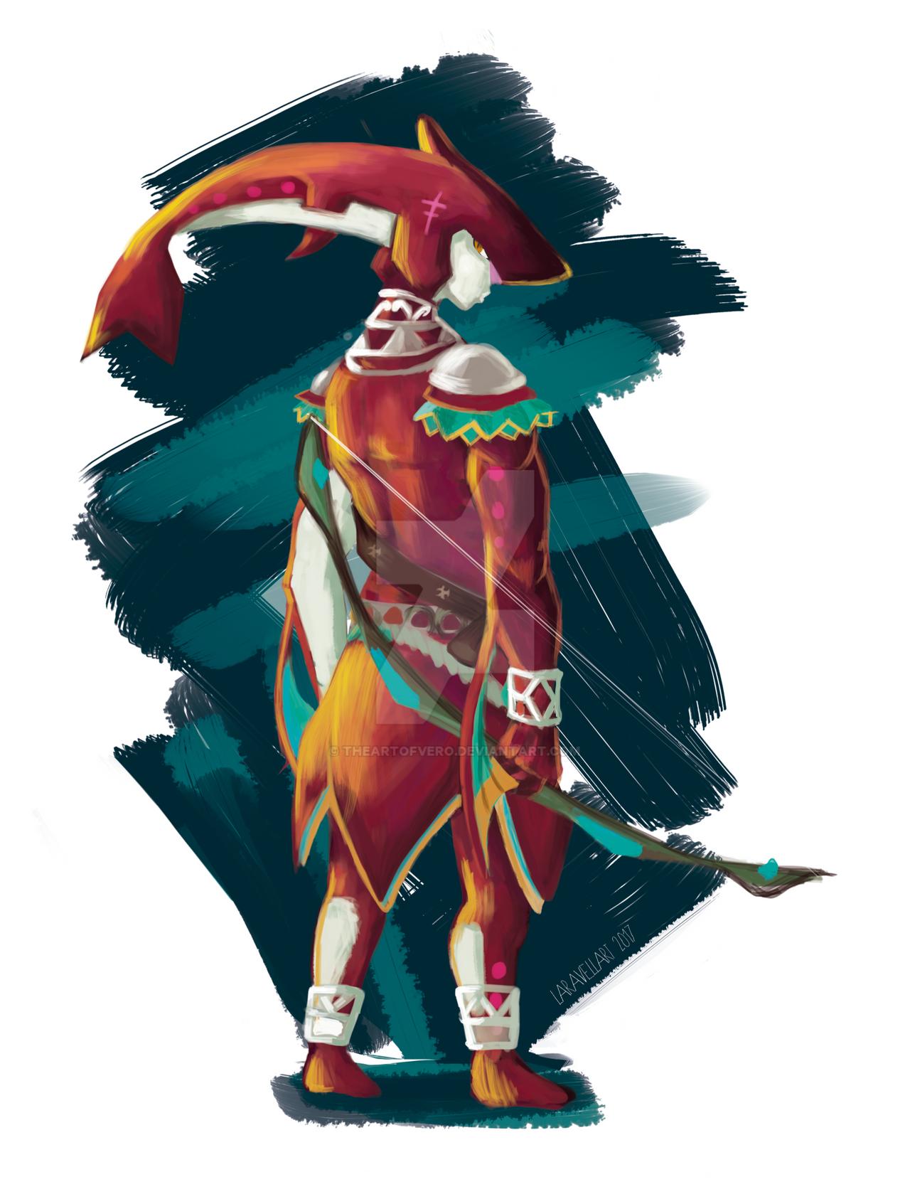 Zelda Character Design Breath Of The Wild : The legend of zelda breath wild sidon by