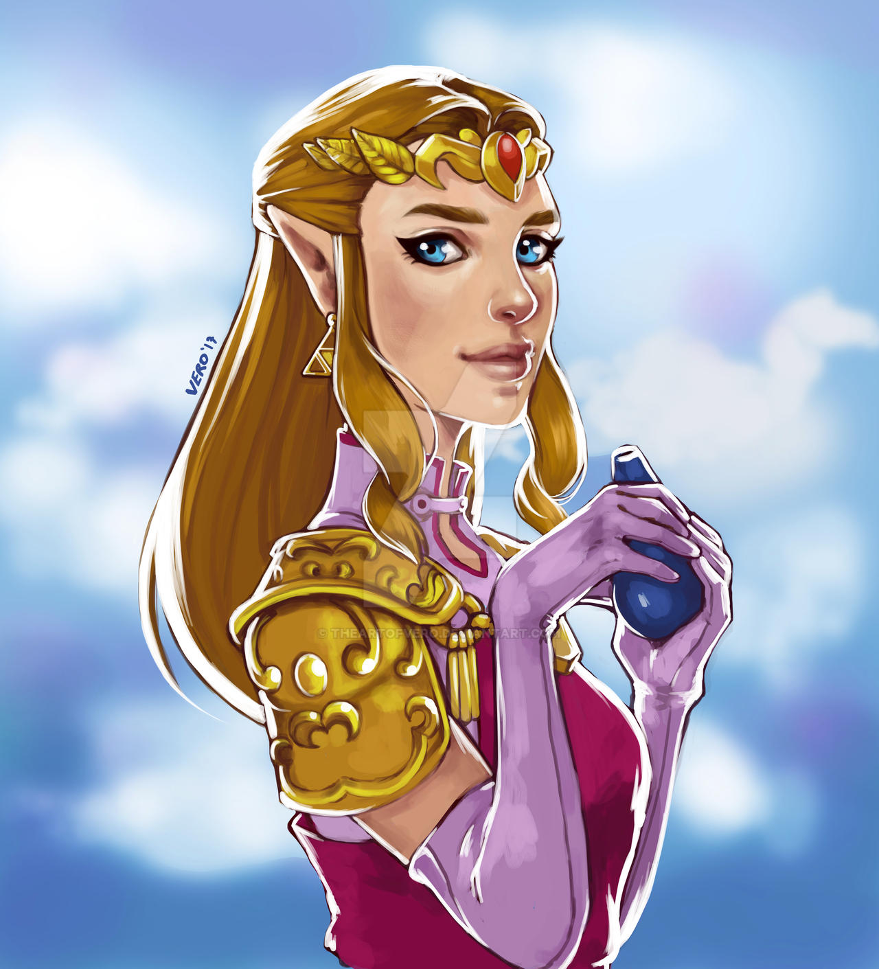 Princess Zelda Ocarina Of Time By Theartofvero On Deviantart