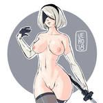2B - Nier Automata - Nudies #5 by TheArtOfVero