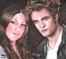 Lou and Robert Pattinson by iggytheillustrator