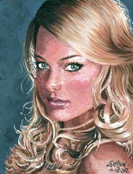 Margot Robbie aka Donna from Neighbours.. Pan Am by iggytheillustrator