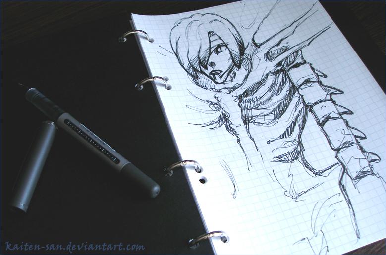 Death Note: Rem_sketch by Kaiten-san on DeviantArt