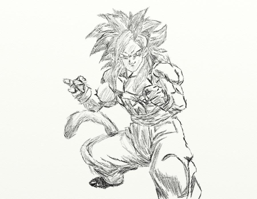 Goku Super Sayan 4 By Ryuu-Hakumei On DeviantArt