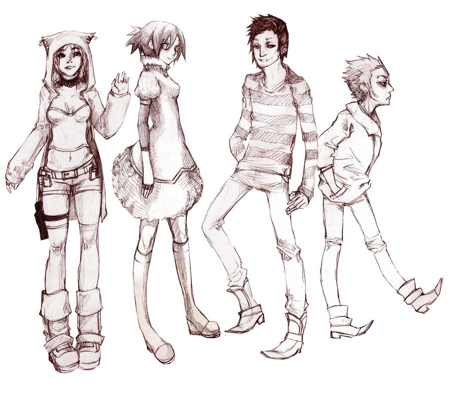 Character Sketches by candycanesmoke on DeviantArt