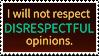 Respect Goes Both Ways